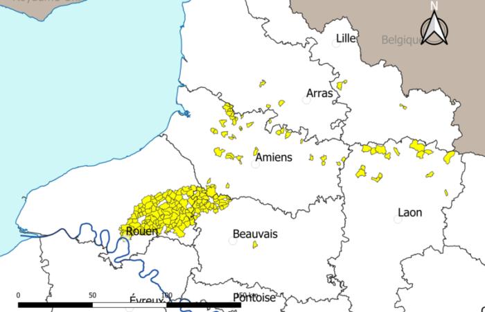 Zone des retombées de la catastrophe de Lubrizol